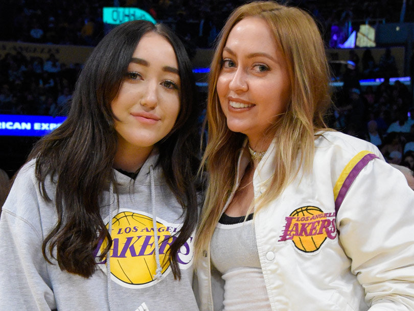 The Cyrus Sisters Hit Up a Lakers Game Without Miley