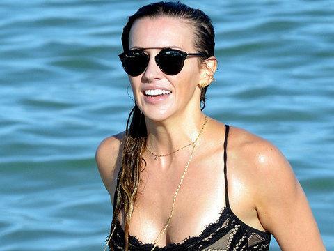 'Arrow' Star Katie Cassidy Rocks Sexy Lace Bikini in Miami