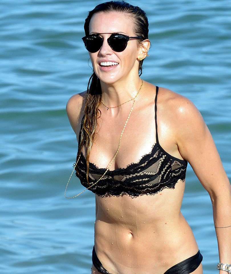 'Arrow' Star Katie Cassidy Rocks Sexy Lace Bikini in Miami
