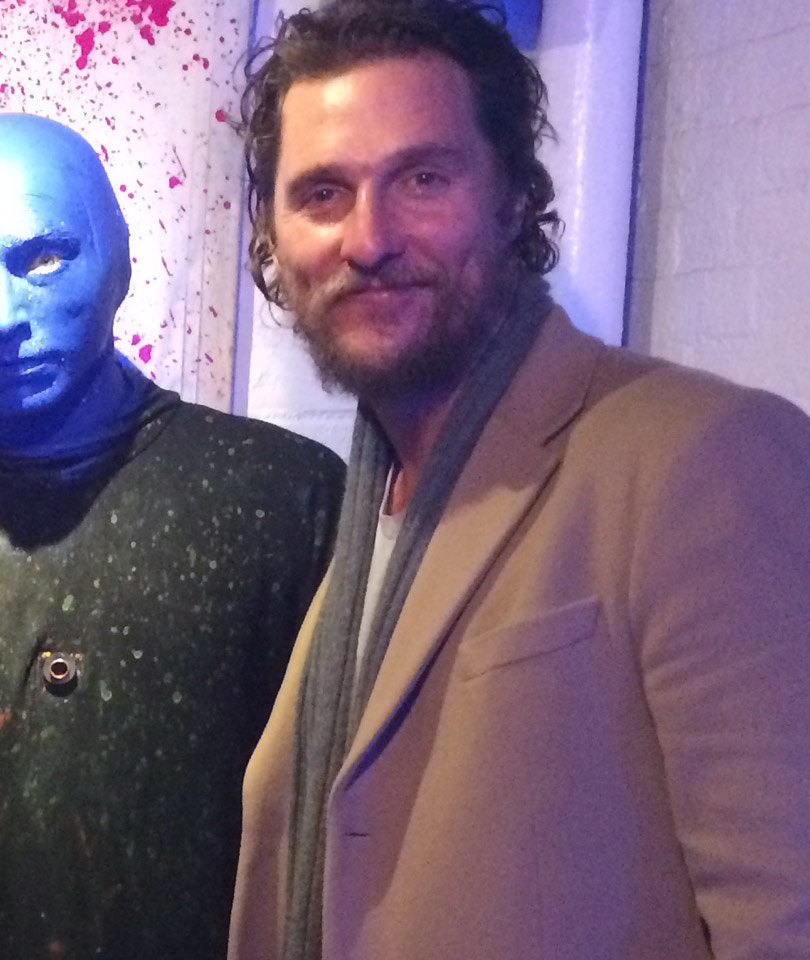Matthew McConaughey and Family Attend Blue Man Group in New York