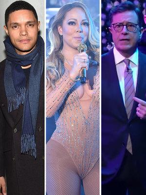 Trevor Noah, Stephen Colbert Mock Mariah's NYE Disaster -- What Really Happened (Video)