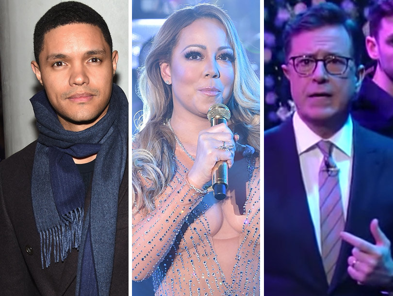 Trevor Noah, Stephen Colbert Mock Mariah's NYE Disaster -- What Really Happened…