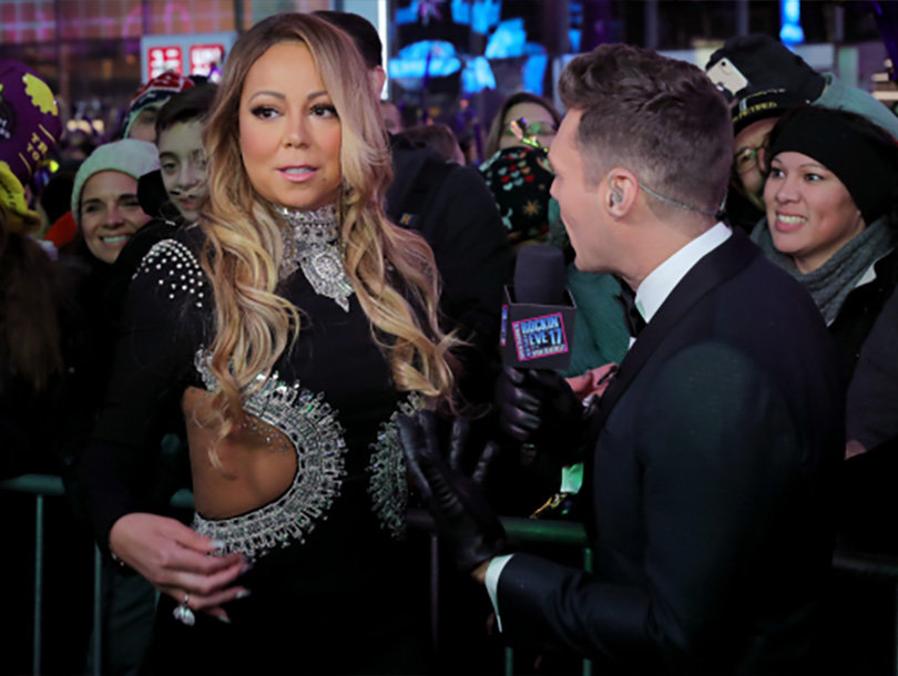 Ryan Seacrest Didn't Actually See Mariah Carey's Live New Year's Eve Disaster (Video)