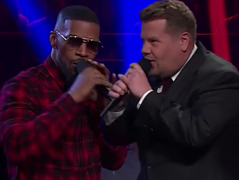 Jamie Foxx and James Corden Sing Filthiest Version of 'Row, Row, Row Your Boat' Ever (Video)