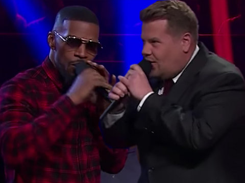 Jamie Foxx and James Corden Sing Filthiest Version of 'Row, Row, Row Your Boat' Ever…
