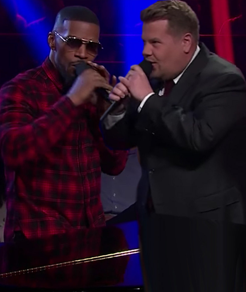 Jamie Foxx and James Corden Sing Filthiest Version of 'Row, Row, Row Your Boat'…
