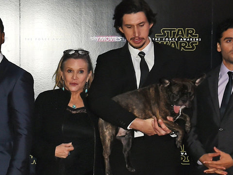 Adam Driver Recalls Last Time He Saw 'The Force Awakens' Co-Star Carrie Fisher (Video)