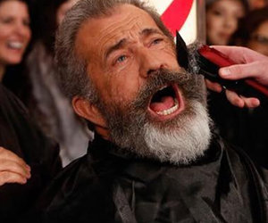 Mel Gibson Butchers Fans' Hair, Gets Shaved on Hollywood Boulevard (Video)