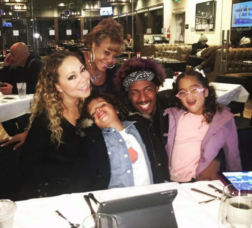 Mariah Carey Reunites With Nick Cannon for Dinner After New Year's Disaster (Photo)