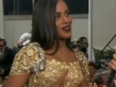 Kerry Washington Dishes on Obama's Farewell Party at Golden Globes Red Carpet (Video)