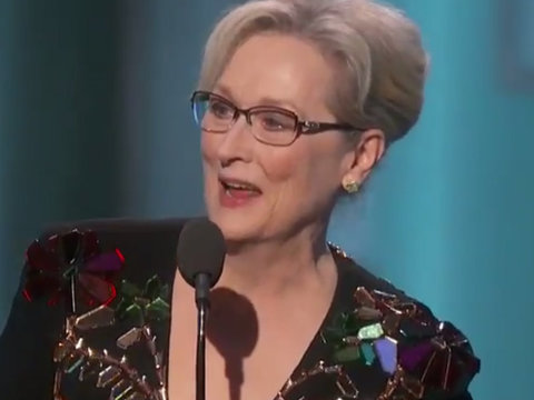 Meryl Streep Slams Donald Trump Without Saying His Name in Political Golden Globes Speech…
