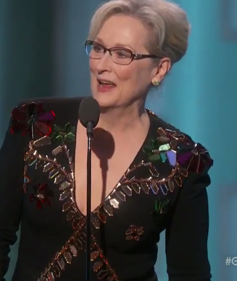Meryl Streep Slams Donald Trump Without Saying His Name in Political Golden…