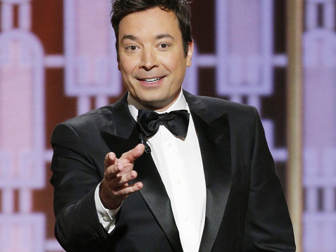 Teleprompter Fails During Jimmy Fallon's Golden Globe Opening Monologue Bashing Donald…