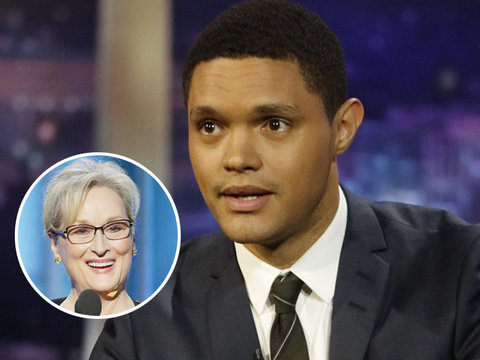 Trevor Noah Rips Meryl Streep's 'Tone Deaf' Golden Globes Speech (Video)