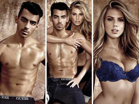 Joe Jonas and Charlotte McKinney Strip Down for Sweaty GUESS Underwear Campaign (Photos)