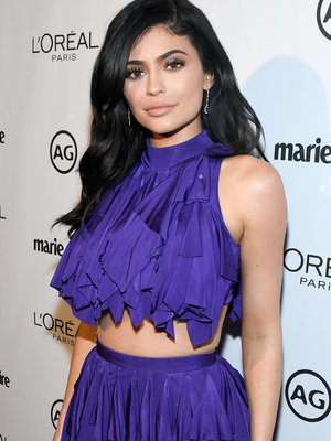Kylie Jenner Shows Major Skin In Bizarre Balmain Dress at Marie Claire Event (Photo)