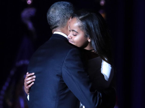 Why Wasn't Sasha Obama at President Obama's Farewell Speech?