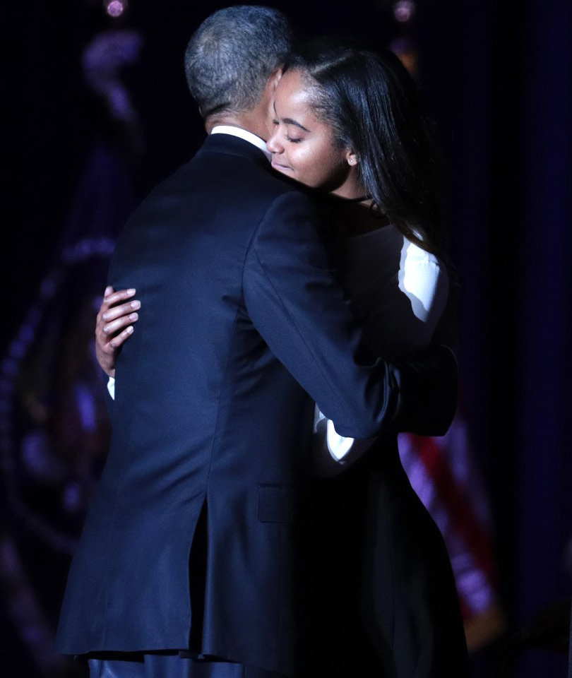Why Wasn't Sasha Obama at President Obama's Farewell Speech?