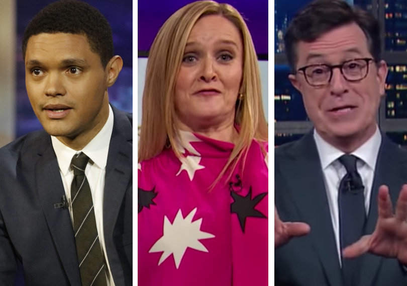 Trevor Noah, Stephen Colbert, Samantha Bee Mock Donald Trump With Golden Shower Jokes (Video)
