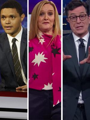 Trevor Noah, Stephen Colbert, Samantha Bee Mock Donald Trump With Golden Shower Jokes (Video)