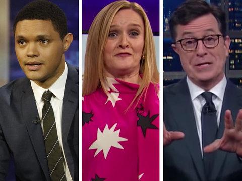 Trevor Noah, Stephen Colbert, Samantha Bee Mock Donald Trump With Golden Shower Jokes…