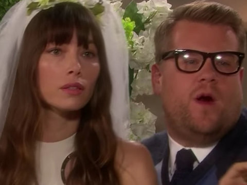 Jessica Biel, Bryan Cranston Star in James Corden's Kanye West Soap Opera Parody (Video)