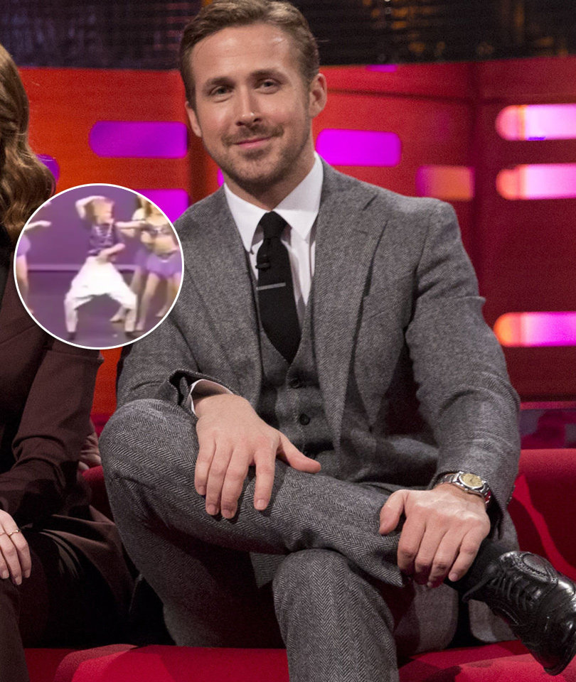 See Mortified Ryan Gosling Watch Embarrassing Dance Video From His Childhood…