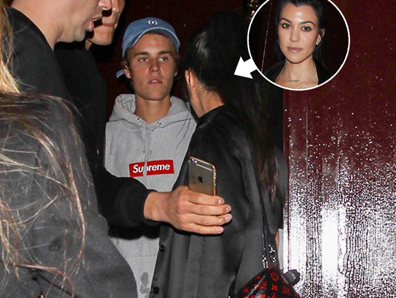 Details on Justin Bieber and Kourtney Kardashian's Late-Night Outing