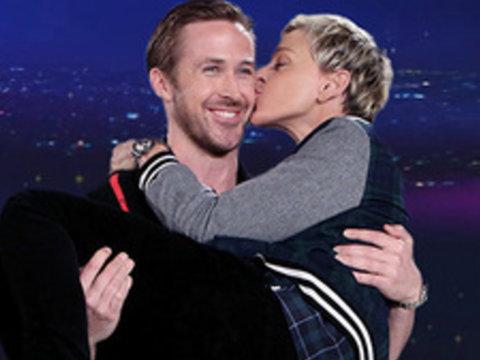 See Ryan Gosling Smooch Ellen DeGeneres in Hilarious 'La La Land' Spoof (Video)