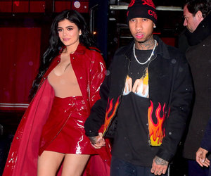 Kylie Jenner Is Red Hot In Red Leather on Date Night with Tyga (Photo)