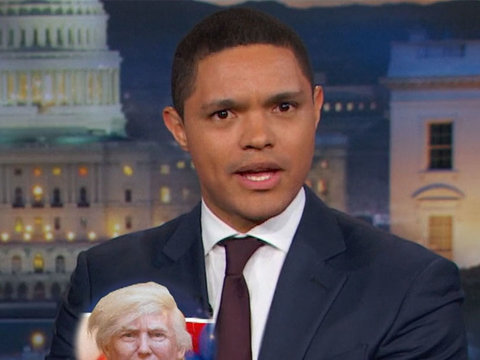 Trevor Noah's Theory on Trump's 'Weird Boob' Protester