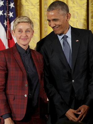 Ellen DeGeneres' Farewell Tribute to the Obamas Is Giving Us All the Feels (Video)