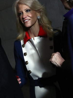 'What the Hell Is Kellyanne Conway Wearing?' Floods Twitter Over Inauguration Outfit