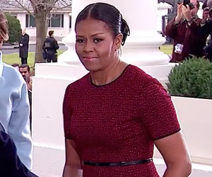 Watch Michelle Obama and Melania Trump's Awkward Gift Moment That Is Going…