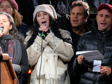 Cher, Alec Baldwin, Mark Ruffalo and More Attend Anti-Trump Rally Before Inauguration…