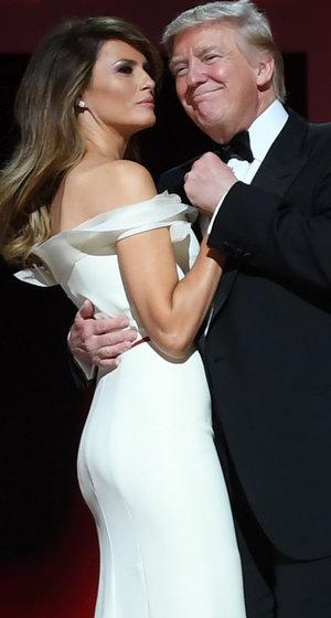 Melania Trump Wows In White Gown at the Inaugural Ball (Photos)