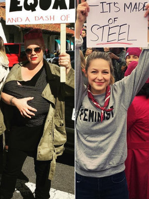 Pink, Supergirl, Rihanna and More: See All the Celebrity Selfies from the Women's March…
