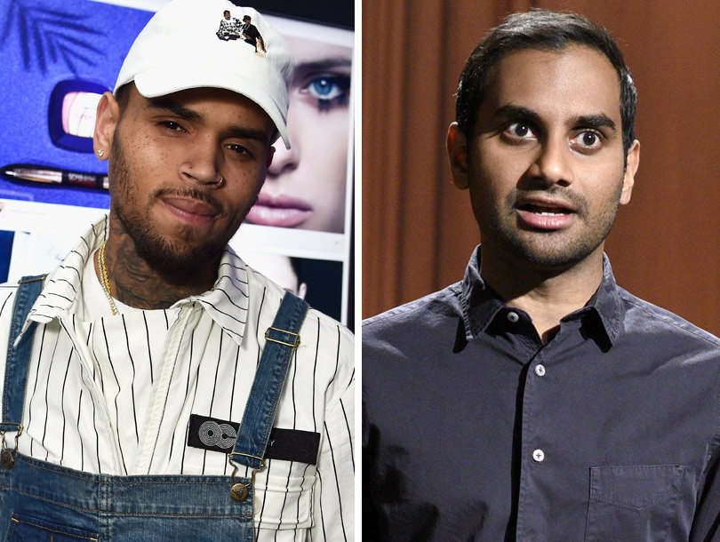 Chris Brown Reacts to Aziz Ansari's SNL Monologue with Racially Charged Response