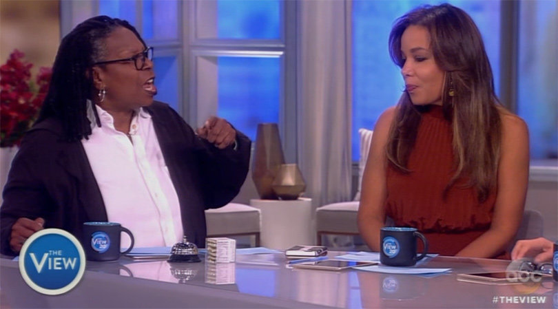 'The View's' Whoopi Goldberg and Sunny Hostin Debate Abortion Pro-Life vs. Pro-Choice Stances (Video)
