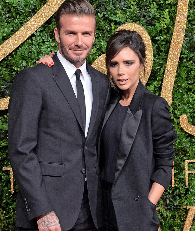 Victoria Beckham Shares Adorable Pic of David and the Kids -- Harper's So Big!…