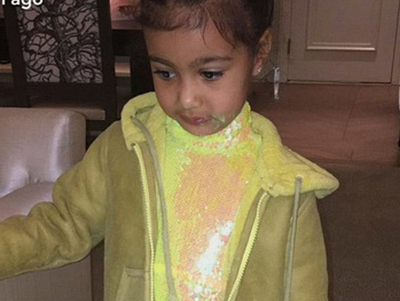 North West Models Kim and Kanye West's New Children's Clothing Line (Photos)