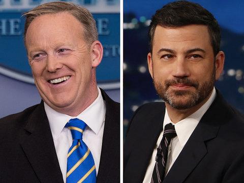 Jimmy Kimmel Presents 'Drunk Sean Spicer' Press Conference (Video)