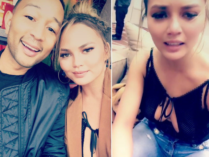 See Chrissy Teigen Give Zero F---ks About Super Bowl Nip Slip (Photos & Video)