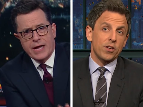 Stephen Colbert, Seth Meyers Mock Donald Trump's Media Criticism, 'Bowling Green…