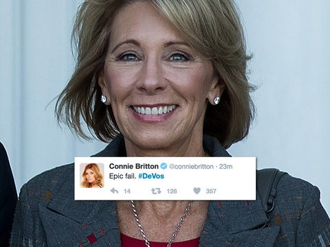 Betsy DeVos Suffers Grizzly Hollywood Twitter Attack After Confirmation: 'Epic Fail,'…
