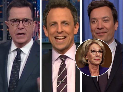 Hate Betsy DeVos? Then You'll Love This Late Night Roast