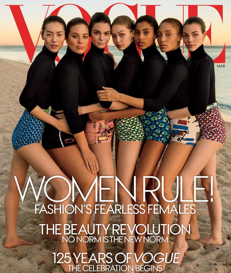 Gigi Hadid, Kendall Jenner, Ashley Graham Among Model Covering Vogue's Diversity Issue (Photos)