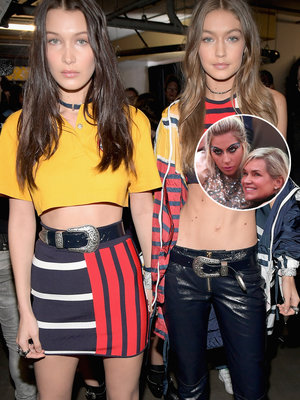 The Hadids, Lady Gaga and More Celebrity Sightings at Tommyland Fashion Show (Photos)