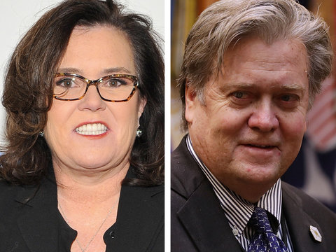 Rosie O'Donnell Embraces Uncanny Steve Bannon Resemblance With Must-See Twitter Pic