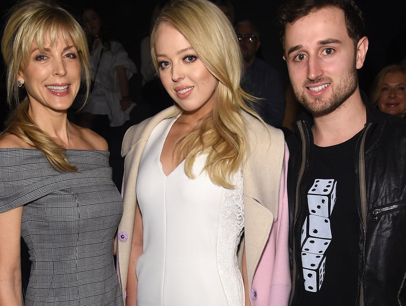 Tiffany Trump Attends NYFW with Boyfriend and Mom Marla Maples (Photos)